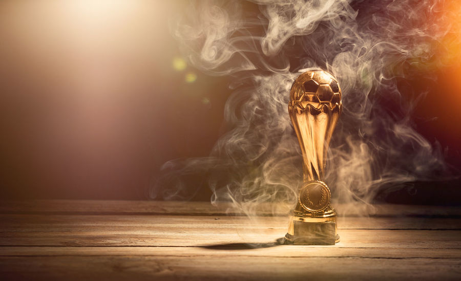 Achievement Awards First Hot Leader Smoke Smoking Trophy Waiting Competition Cup Dark Distant Gold Colored Heat - Temperature Leadership Light Bulb Mist Reward Spooky Sports Table Winner