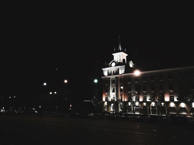 Night Street Light City No People Building Exterior
