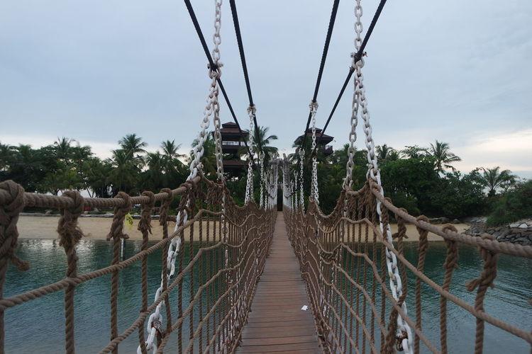 Footbridge At Palawan Beach