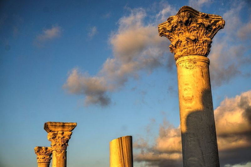 Hersones Architecture Built Structure Columns Day Hersones Low Angle View Nature No People Outdoors Sky