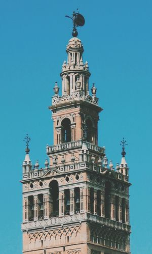 Giralda Tower Architecture Sevilla SPAIN Colors Blue Day City Traveling