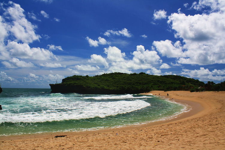 Krakal Bay Beach Beauty In Nature Blue Cloud - Sky Day Nature No People Outdoors Sand Scenics Sea Sky Water Wave