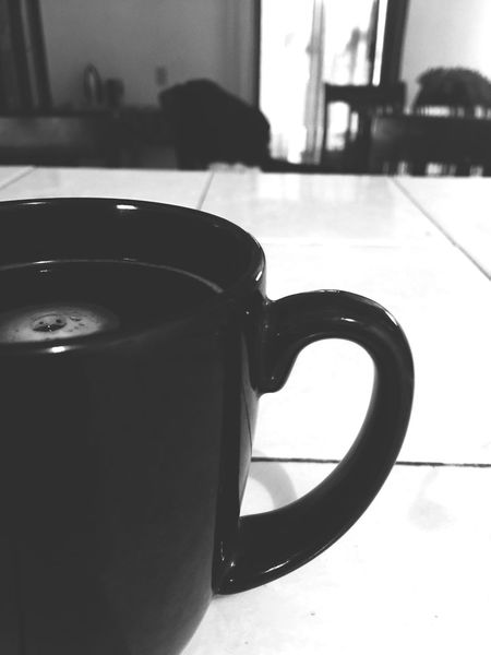 She said Home Interior Indoors  Drink No People Day Food And Drink Refreshment Close-up Blak And White Dark Coffee