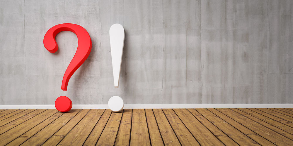 3D Exclamation And Question Mark at concrete grunge Wall - FAQ Concept - 3D rendering - Illustration Red Table Heart Shape Wood - Material Still Life Indoors  No People Love Directly Above White Color Positive Emotion Emotion Day High Angle View Creativity Wood Close-up Design Shape Decoration Exclamation Point Exclamation Mark Question Mark Symbol Faq