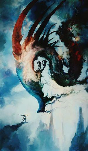 New Pic  Beautiful Dragon Warrior Artistic Art Draw Paint