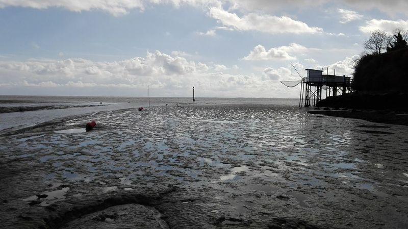 sea side low tide 🌫 Clouds And Sky Seaside_collection Blue Sky Sea And Sky Seaside EyeEm Nature Lover Reflections In The Water Reflection_collection Best EyeEm Shot Plaice Fisherman Cabins Hut