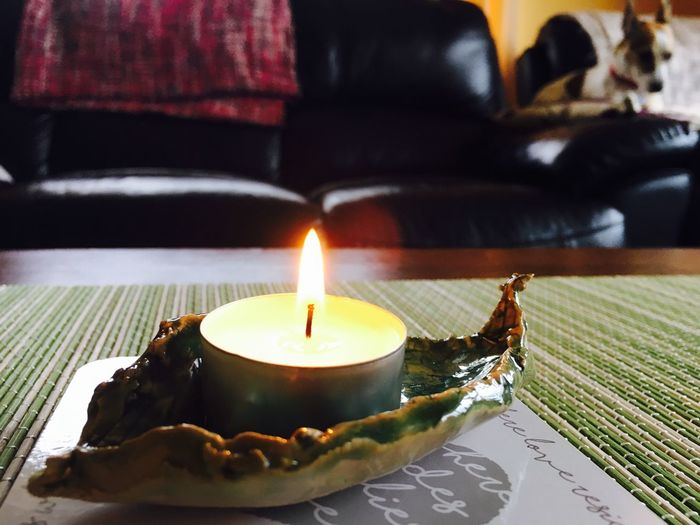 Tea candle Teacandle Candleholder Ceramic Art Living Room Candle Light Candle Flame Tranquility Warm