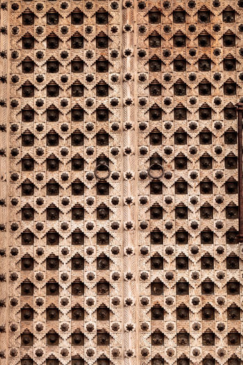 Moroccan antique wood texture door background with iron rings and bolts Antique Background Backgrounds Close-up Day Full Frame Iron Iron Rings Moroccan No People Outdoors Texture Textured  Wood - Material Working
