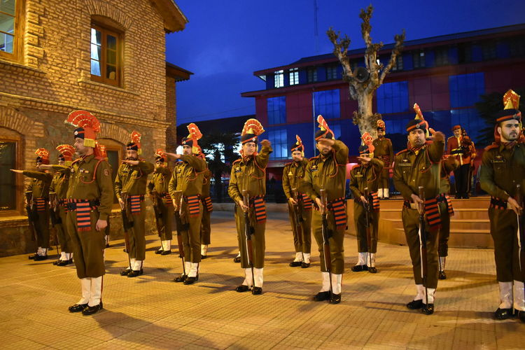 A wreath laying ceremony was held at District Police Lines Srinagar to pay homage to DySP Aman Thakur who was killed in an encounter with militants in Kulgam on Sunday. Military Military Parade Army Army Soldier City Military Uniform Uniform Arts Culture And Entertainment Celebration Parade