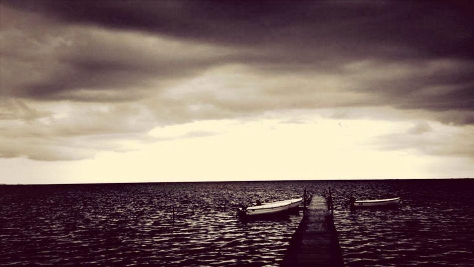 MaxArt Sea Boats Clouds