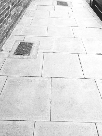 City Stone Tile Day Outdoors Full Frame No People Backgrounds City Pavement Pavement Patterns Road Floor Background Lines Lines And Shapes Black And White Floor Patterns Pattern Form EyeEm LOST IN London