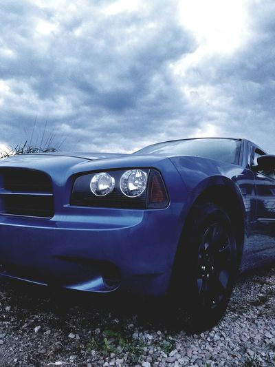 Car Headlight Old-fashioned Transportation Retro Styled Cloud - Sky Land Vehicle Sky No People Day Outdoors Dodge Charger Tranquility Low Angle View Dodgecharger
