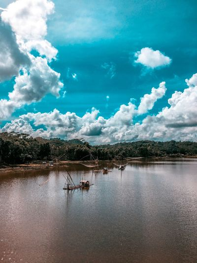 Sail sail sail Cloud - Sky Kayak Cloud - Sky Sky Water Nature Day Beauty In Nature Tree Lake Outdoors No People Waterfront Reflection Scenics - Nature
