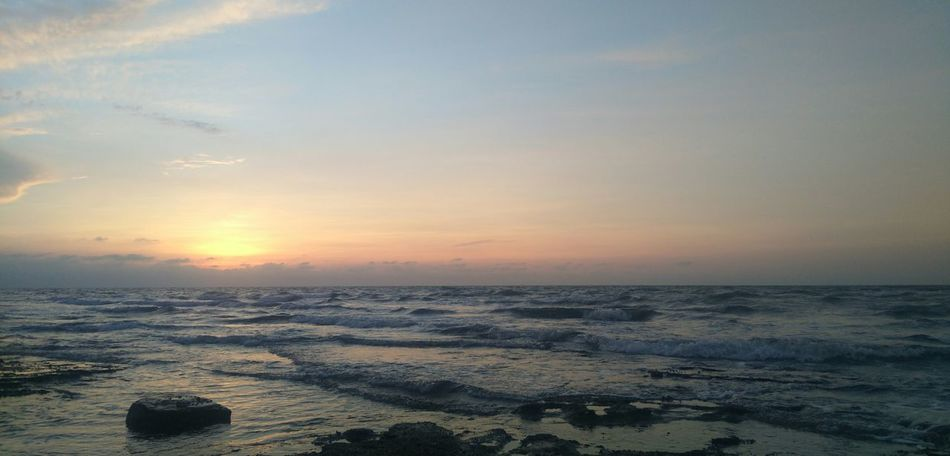 日出 Sunset Beach Sea Sand Landscape Sky