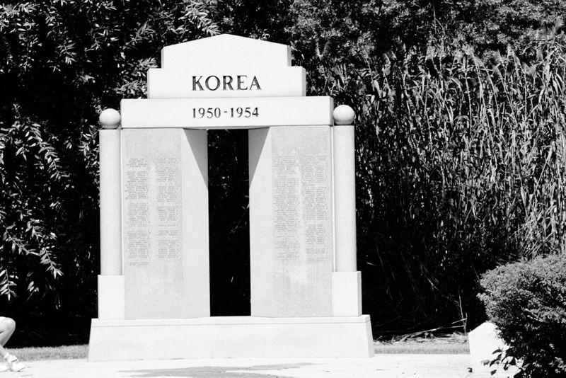 Veterans To Remember Statue Of Korea Memorial Park