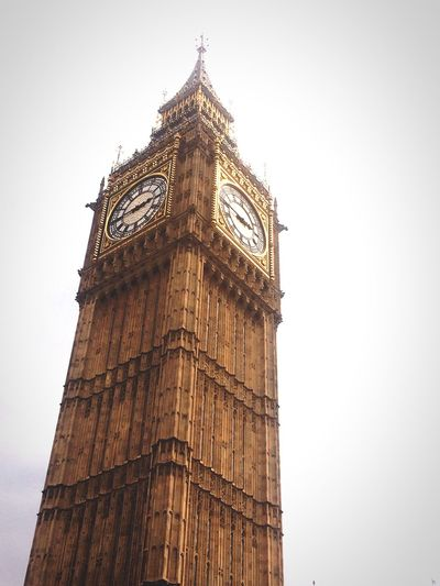 Big Ben. Architecture Sky Day London Big Ben Westminster Clock Tower Travel Destinations Tower Clock Time Architecture Low Angle View Outdoors Close-up No People