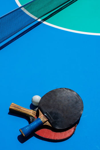 Ping Pong Composition Ping Pong Ping Pong Paddle Abstract Colours Colors Sport Still Life Blue Close-up