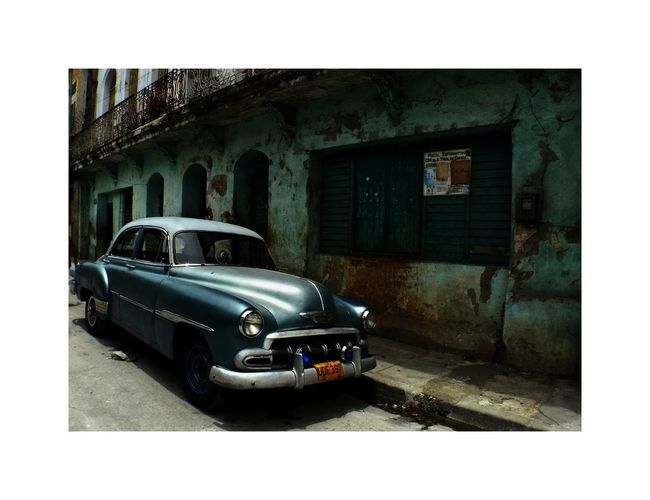 Car Cuba, Land Vehicle Old Oldtimer, Street Street Photography Transportation