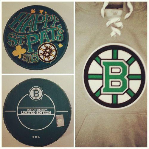 Lá Fhéile Pádraig !! 🍻 Happy St. Patrick 's Day!! 🎉 BostonBruins NHL Icehockey Puck Eishockey