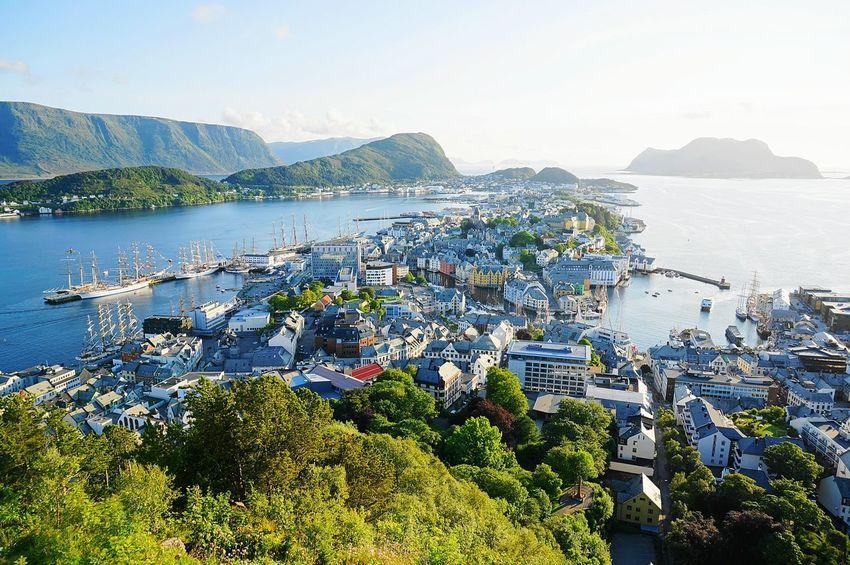 View of Ålesund city from the Aksla mountain. Ålesund, Norway Aalesund Norway Eyeem Norway EyeEm Nature Lover EyeEm Best Shots Cityscapes City View  City Western Norway Sunset Tall Ships Race Tall Ship Amazing View Stockphoto Travel Photography Bestcityintheworld Beautiful Gettylicious Newstrekker Norway Nature Travel Tourism Harbour City Skyline