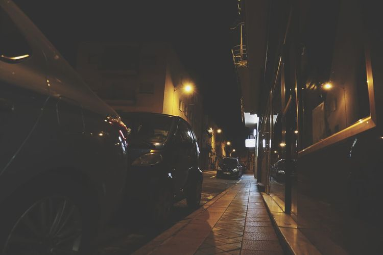 Night Madrid Date Madrid Spain Car Parking Light Streetlights Streetphotography Illuminated City Bar - Drink Establishment Nightclub Happy Hour EyeEmNewHere