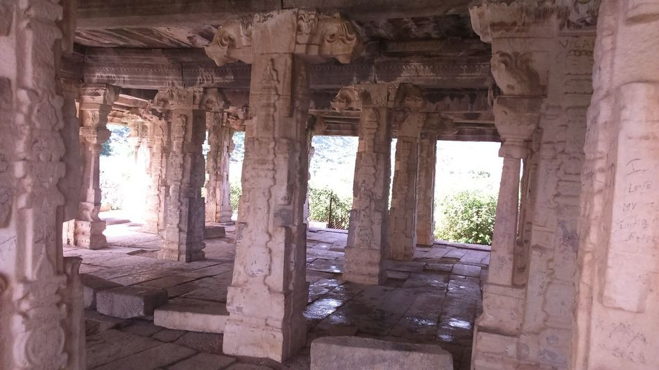 Temple Ruins: Built long ago by King Krishna Dev Rai. Abandoned Ancient Archaeology Architectural Column Architecture Building Built Structure Damaged Day History Indoors  Old Old Ruin Ruined The Past Tourism Travel Destinations