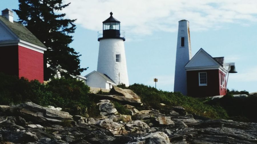 Lighthouse Pemaquid Point, Maine Pemaquid Lighthouse Large Rocks Blue Sky Mainephotography Maine