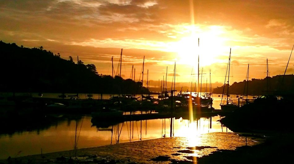 Crosshaven... Sunset Reflection Water Sky Sun Sailboat Yachting