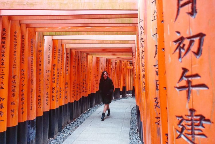 Long Goodbye Full Length Orange Color Lifestyles Rear View Real People Casual Clothing Walking Red One Person Japan EyeEm Best Shots Creative Photography CityyArchitectureeDayyWomennAdults OnlyyPeopleeAdultt
