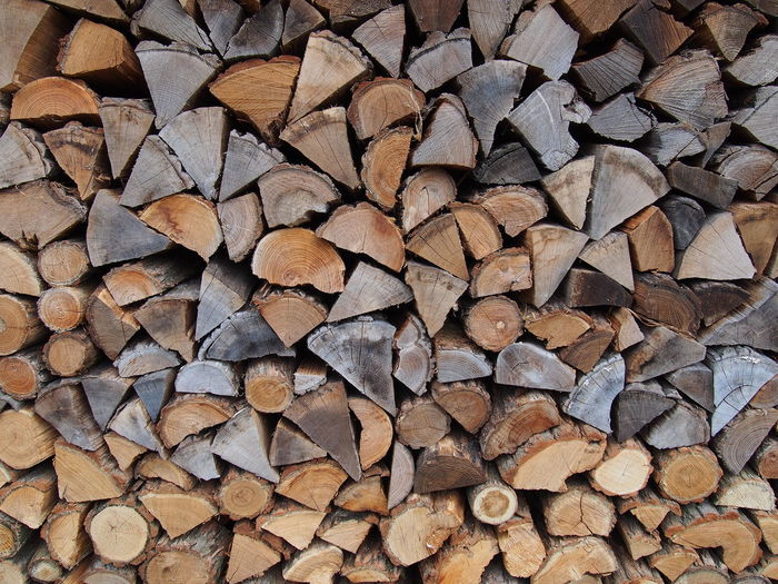 Close-up wood pile