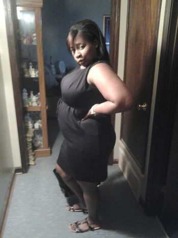 My sister 2day before church pretty&pregnant