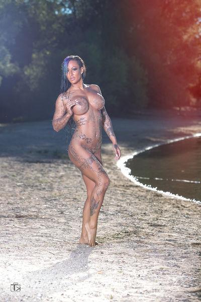 Erotikmodel Beach Beauty In Nature Hottie Sexygirl Fashionmodel  Tattoo