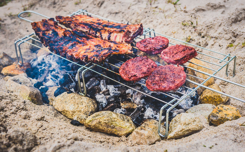 Vegetables on barbecue grill