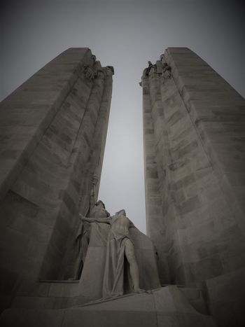 National Vimy, Memorial in Vimy. Honour Canada's fallen heroes. Architecture Day History Low Angle View Outdoors Sculpture Sky Statue