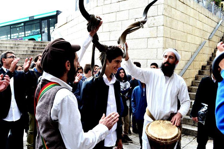 Izrael Jerusalem Horn People Boy Young Smiling Holyday Celebration Music Dance Love Traveling Eye4photography  ❤ Hello World ✌ Holiday EyeEm Best Edits