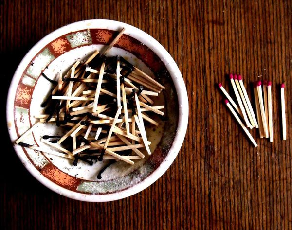 Match Sticks Used Matches Close-up Details Matches Photography New Perspectives Table Wood Wood - Material