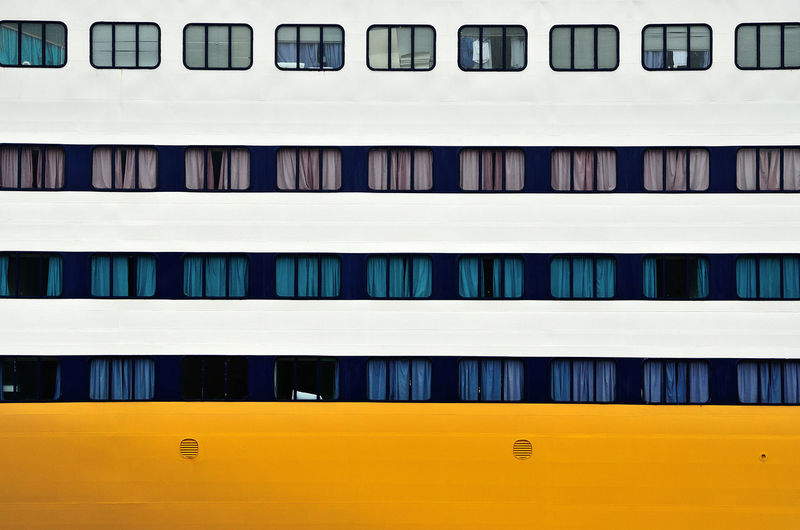 Full frame shot of cruise ship