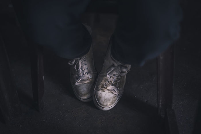 Dirty school shoes School Shoes School Uniforms Around The World School Human Body Part Shoe Low Section Indoors  Human Leg One Man Only People Leg One Person Close-up