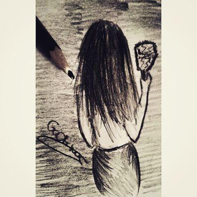 MyDrawing Girl Adolescenza Drawing Draw Disegno Disegni Disegnare Passione Love Squaredroid