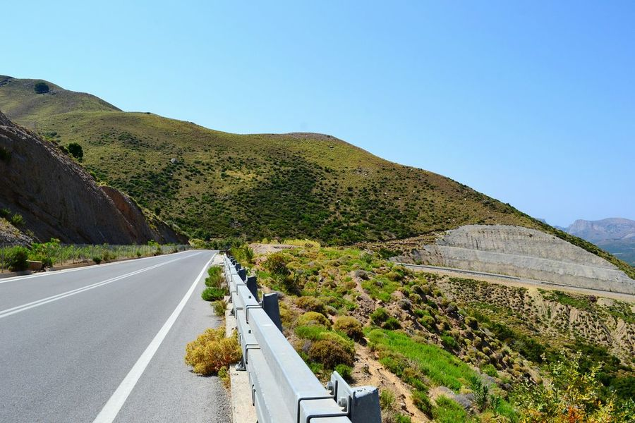 Perfect place to drive Creta Crete Grecia Greece Road Hills Green Ontheroad Traveling Travel Strada Bluesky Nature The Great Outdoors - 2016 EyeEm Awards The Essence Of Summer My Commute Feel The Journey MeinAutomoment On The Way The Journey Is The Destination Colour Of Life Miles Away