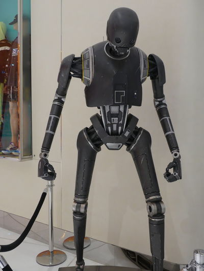 Star Wars Robot in the Dubai Mall, Dubai, United Arab Emirates 2019 Dubai UAE 2019 Star Wars Technology Futuristic Human Representation Photography Themes Robot Front View Standing Portrait Science Security Scifi Standing Dubai Mall Mall Shopping Centre Display Full Frame Composition Indoor Photography Tourist Attraction  Focus On Foreground