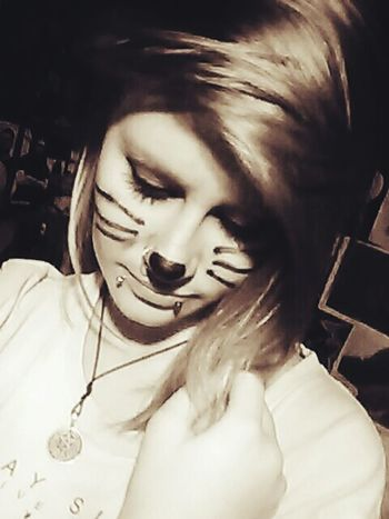 Without the bitter, the sweet wouldn't be as sweet <3 Kitty Cat Cat Wiskers Makeup Selfie Me Hayley