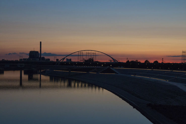 Night Lights Nightphotography Nijmegen Waal Waalbrug Nijmegen Architecture Bridge - Man Made Structure Built Structure City Nature No People Outdoors Oversteek River Sky Sunset Waalkade  Water