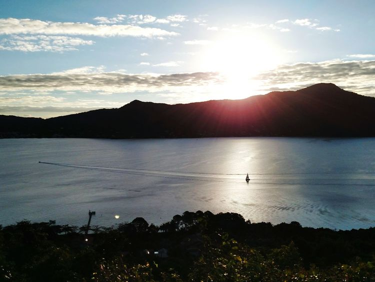 Mountain Landscape Lake Outdoors Sunlight Water Sunset Tranquility Beauty In Nature Florianópolis - SC Nature