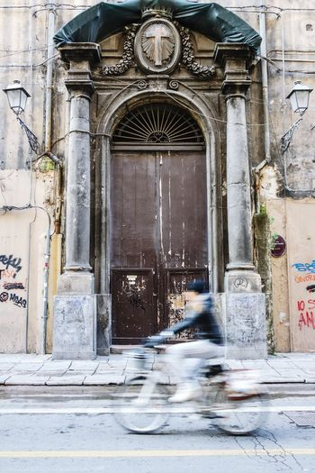Bycicling in Palermo, Italy Doorsworldwide Doorporn Doors Lover Street Photography Streetphotography EyeEm Best Shots Fresh 3 Open Edit Urban Geometry Eye4photography  Taking Photos Street Lamp Monday Showcase: February