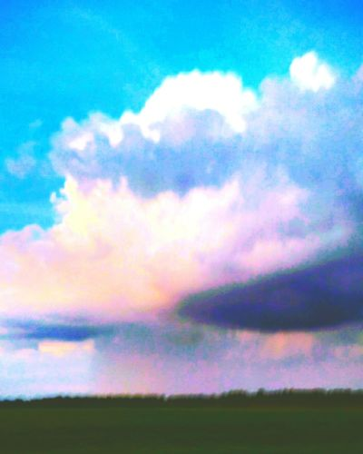 Cloud - Sky Outdoors Nature Scenics Field No People Rural Scene Multi Colored Beauty In Nature Dramatic Sky Field