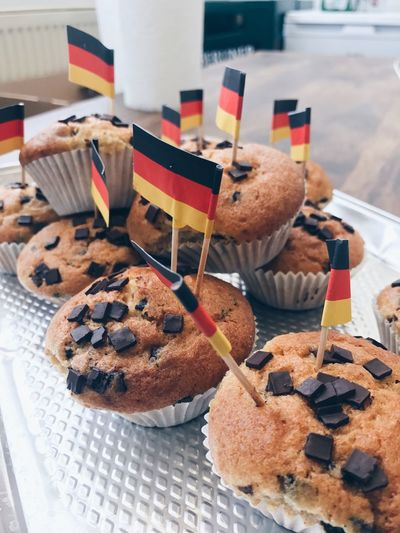 When German colleagues feed you. A Taste of Life Homemade Flag Germany German Flag Celebration Cupcakes EyeEm Selects Food And Drink Food No People Still Life Indoors  Patriotism Sweet Food Baked Close-up Flag Ready-to-eat Indulgence Freshness Dessert Sweet Cake World Cup 2018 World Cup 2018