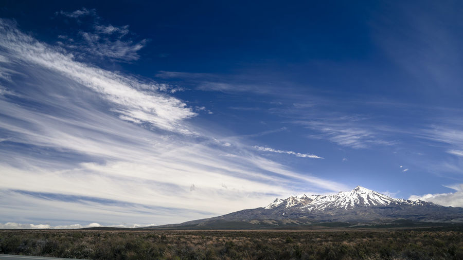 New Zealand Mountain Skies LOTR Ruapehu Beauty In Nature Blue Cloud - Sky Cold Temperature Desert Road Environment Landscape Mountain Mountain Peak Mountain Range Nature New Zealand No People Non-urban Scene Outdoors Scenics - Nature Sky Snow Snowcapped Mountain Tranquil Scene Tranquility Volcano Winter