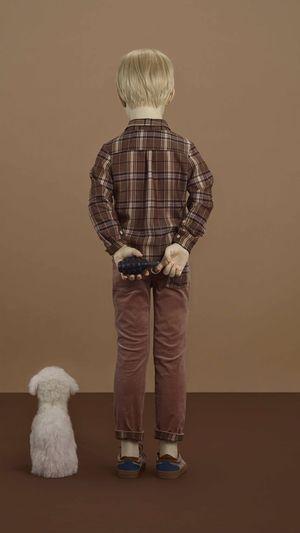 Secure for now back . Standing Boy Pet Dog Art ArtWork Artist Contemporary Art Installation Art European  Exbititon Grenade