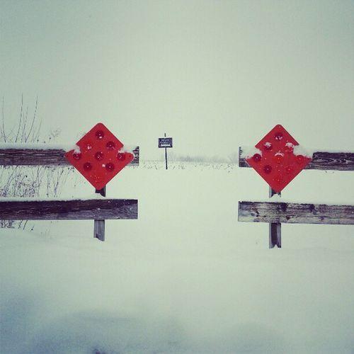 Snowy Day Iowa Dport